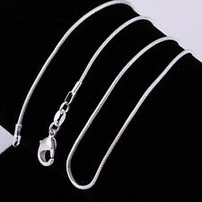 New Hot Silver Plated 1MM Classic Snake Necklace Chain Wholesale Bulk Price SH