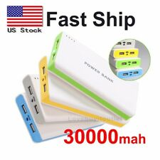 30000mah Dual USB Port External Battery Charger Power Bank For Cellphone Travel