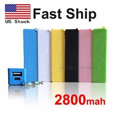 Multi Color 2800mah External Portable USB Battery Charger Power Bank Fast Ship