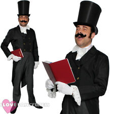 VICTORIAN MAN COSTUME MENS CHRISTMAS CAROLLER FANCY DRESS COSTUME DICKENSIAN