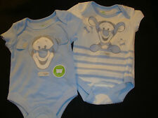 "DISNEY  POOH ""BABY TIGGER"" SET OF 2 short sleeve BODY SUITS  NWT ADORABLE SET!!!"