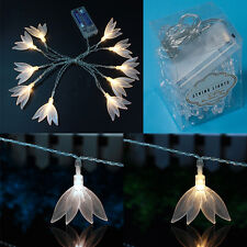 Clear Warm white Four Leaf Clover String Light 1.65M 10 LED Batteries Xmas Decor