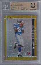 2007 Calvin Johnson Finest Gold Refractor RC- BGS 9.5 w/quad 9.5 subs... #19/50