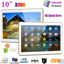 10 inch HD Dual SIM Camera 4G Quad Core Tablet PC Android 5.1 2Gb+32GB WIFI LOT