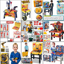 KIDS CHILDREN WORK SHOP DIY BUILDING CONSTRUCTION TOOL BENCH PLAY TOY XMAS GIFT