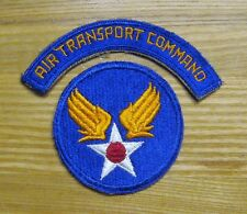 WW2 US Army Air Force Air Transport Command Tab & Shoulder Patch