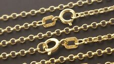 "14 k Solid Yellow Gold 1.5 mm Italian Rolo Chain Necklace 18"", 20"", 22""."