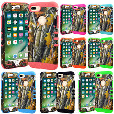 For Apple iPhone 7 Case Kickstand Tough Armor Hard Cover Mossy Tree Branch Camo