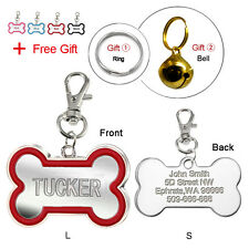 Custom Dog Tags Engraved Cat Pet ID Tags Personlized Name Phone Laser Engraving