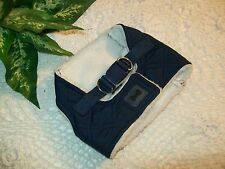 BLUE QUILTED Shearling Dog Body Harness Vest XS S M Pup Crew new puppy pet