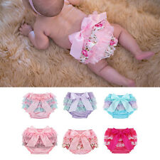 Toddler Baby Infant Girls Ruffle Lace Bloomer Panties Shorts Bottom Diaper Cover
