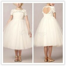 Girls Party Flower Formal Wedding Princess Prom Bridesmaid Christening Dress New