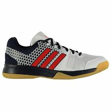 Adidas Ligra 4 Indoor Court Training Shoes Mens White/Red Gym Trainers Sneakers