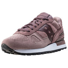 Saucony Shadow O Suede Womens Trainers Plum New Shoes