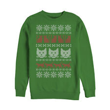 Lost Gods Cat Ugly Christmas Sweater Mens Graphic Sweatshirt
