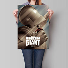 The Iron Giant Poster Signature Edition Wall Art Animated Movie Classic A2 A3 A4