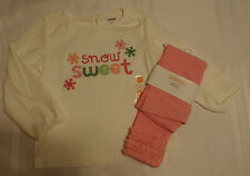 Gymboree 18-24 Month Cheery All The Way Shirt Pink Legging Outfit NWT
