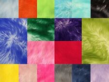 """Coat Costume Faux Fur Fabric Long Pile Candy Shaggy 60"""" Wide Sold by the yard"""