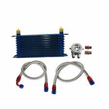 Universal 10 Rows Oil Cooler Kit M20XP1.5 3/4X16 UNF Oil Filter Fitting Adapter