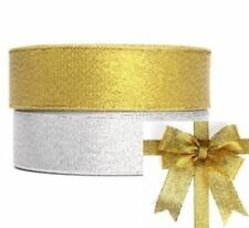 25Yards 3/8 Glitter Sparkle Ribbon Shimmer Metallic Wedding Gift Wrapping C48J