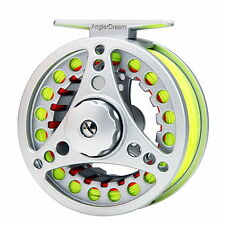 5/6/7/8WT Fly Reel and Line Combo Large Arbor Aluminum Reel & Fly Line &Backing