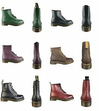 Dr Martens DM'S 1460 Green Black Red Purple Brown Smooth Leather 8 Eyelet Boots