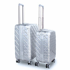 Fashion ABS+PC Expandable Travel Trolley Suitcase Baggage Luggage Hard Case