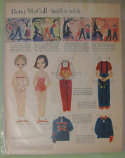 Vintage 1955 Betsy McCall Meets a Witch Paper Doll in Modern Homemaker 1955