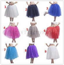 New 5 Layer Retro Lady Petticoat Tutu Crinoline Underskirt Skirt Slips Tull 27""
