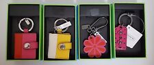 Coach Leather Pink Flower, Yellow & Pink Photo Frame, Hang Tag  Key Chain Fob NB