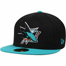 New Era San Jose Sharks Black/Teal 2-Tone 59FIFTY Fitted Hat
