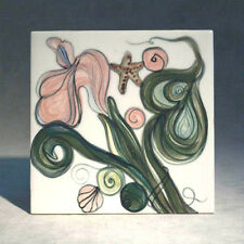 REDUCED Hand Painted Tile/Trivet by Nancy Rasch Salamon ~ Clay Born Pottery 1996