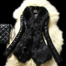Women Jacket  Warm Fur Collar Lady Overcoat slim fit Coat Parka Outerwear