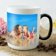 Personalised Heat Colour Change Mug in Choice of Colours Add And Text Or Images