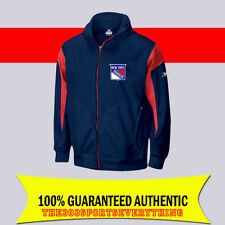 NEW YORK RANGERS PREMIUM CCM HOCKEY PLAYER STYLE TRAVEL HOODED JACKET