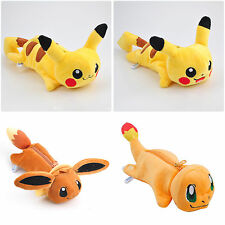 Anime Pokemon Pikachu, Eevee Plush Toy Pencil Bag Stationery Pouch Cosmetic Case