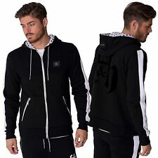Mens Casual Zip Through Hoody Contrasting Stripe Pockets Jacket by Fremont S-XL