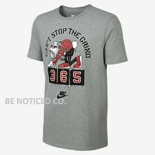 Nike Men's Can't Stop The Grind T-Shirt Gray S M Gym Casual Training Running Gym