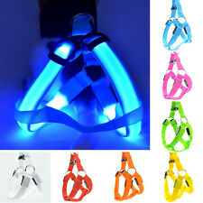 USB Cable + Pet Walking Leash Belt LED Flashing Dog Harness Safety Light up Lead