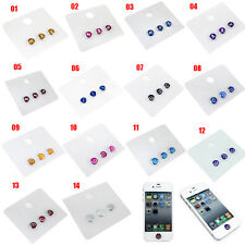 Cool Skull Aluminum Home Button Sticker for iPhone 5s 66s 7 iPod Touch iPad Mini