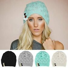 HOT New  Women Winter Warm Beret Braided Baggy Knit Crochet Beanie Hat Ski Cap