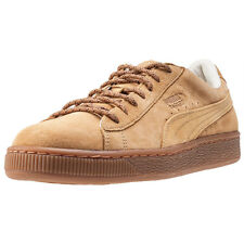 Puma Basket Classic Winterized Mens Trainers Tan New Shoes