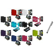 For iPod Touch 4th Gen 4G Wallet Leather Pouch Cover Case Holder+Metal Pen