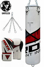 RDX Leather UnFilled Punching Bag Boxing Gloves Chain Speed Bag MMA Training CA