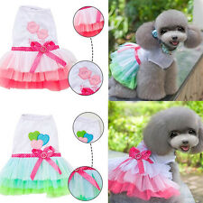 Pet Puppy Lace Skirt Princess Dress Dog Cat Clothes Apparel Cosplay Costume Gift