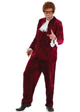 Mens Austin Powers Style Red 60s Costume