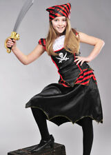 Kids Gothic Pirate Girl Fancy Dress Costume