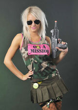 On A Mission Pink Military Army Vest