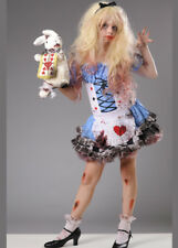 Kids Halloween Zombie Wonderland Alice Costume