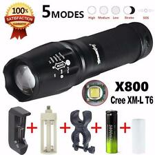 6000 Lumen G700 LED Zoom Flashlight X800 Military Torch Light Battery Charger